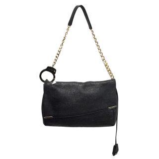 Jimmy Choo black handcuff bag