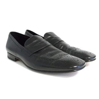 Yves Saint Laurent black leather loafers
