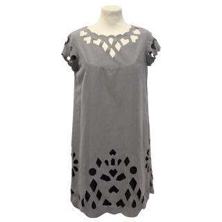 Pringle of Scotland Grey Silk Dress