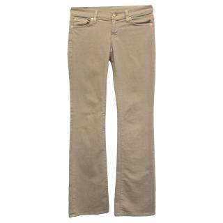 7 for All Mankind beige bootcut jeans