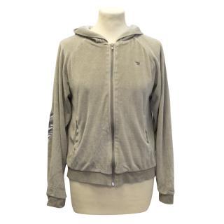 La Fiancee D'arthur beige velvet hoodie