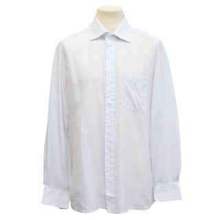 Lanvin blue pinstripe button shirt