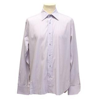 Gucci mens pinstripe pale pink shirt