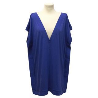 Diane Von Furstenberg blue Tasha tunic