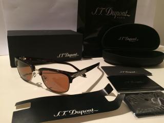 S.T. Dupont Mens Wayfarer Half Rim Sunglasses