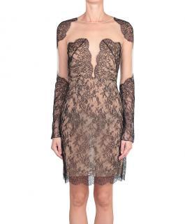 Adriana Minari black lace cut out dress