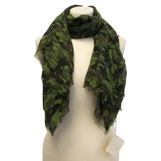 Jimmy Choo camouflage scarf