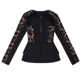 Adriana Minari black peplum jacket
