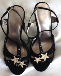 Moda in Pele crystal star sandals