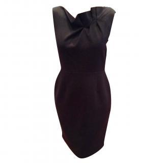 Elie Tahari black wool shift dress