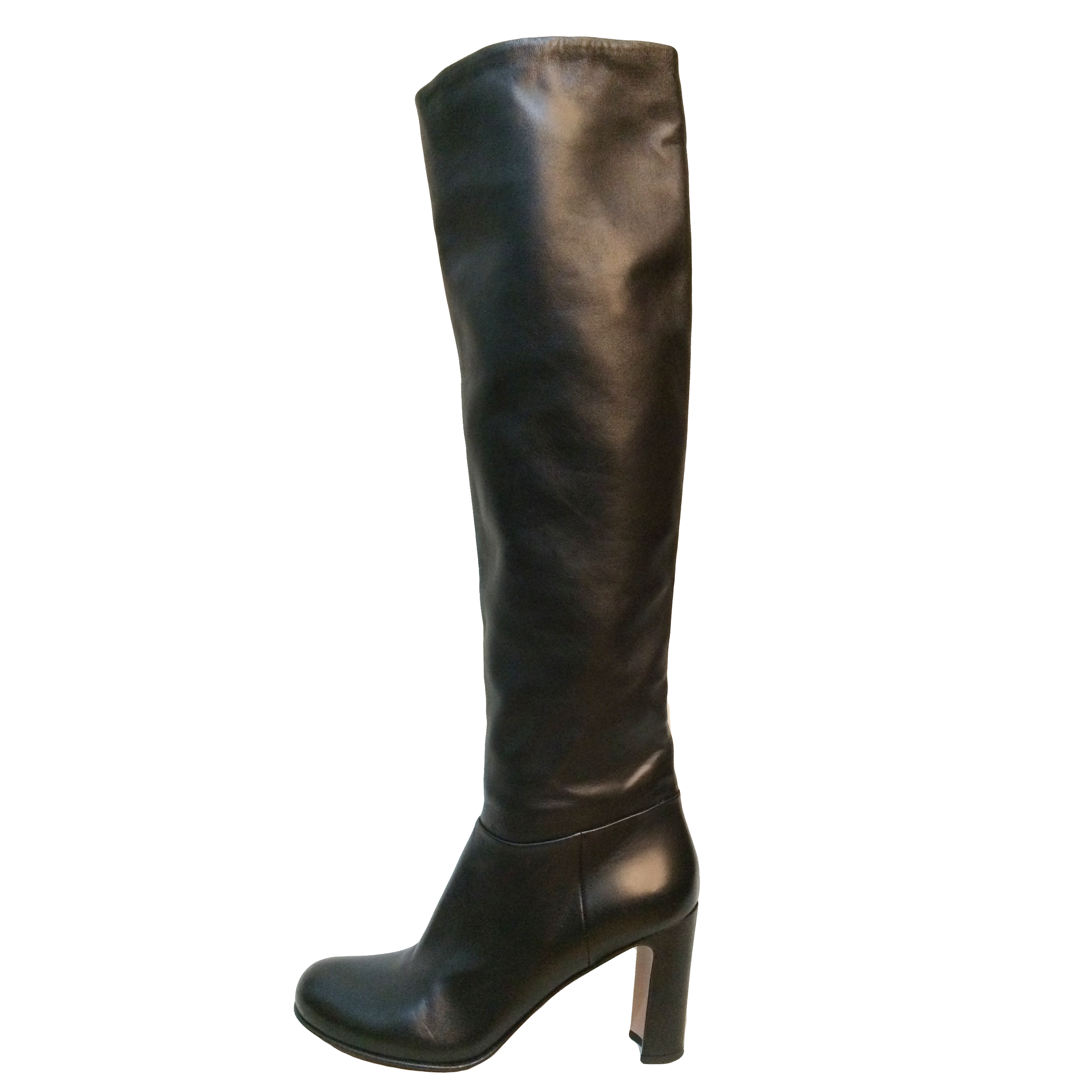 a4aebe4d6911 Prada Over Knee Black Leather Boots
