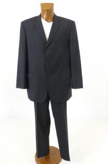 BALMAIN Men Black with White Squares Wool Suit