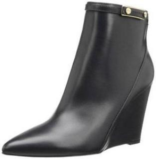 Hugo Boss Clodi Black Leather Ankle Boots