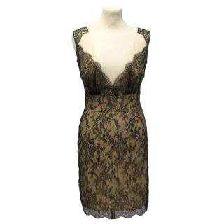 Adriana Minari black french lace dress