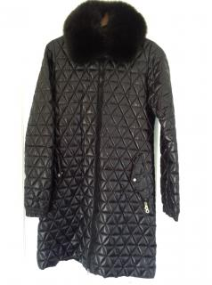 Duvetica down filled coat with fur collar