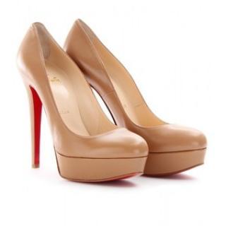 Louboutin Bianca nude Court Shoes