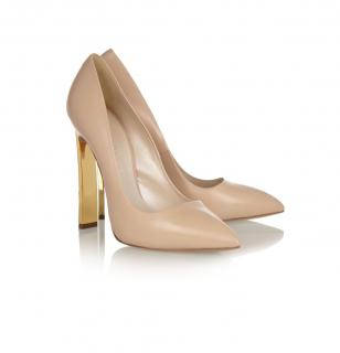 Casadei Nude court shoes