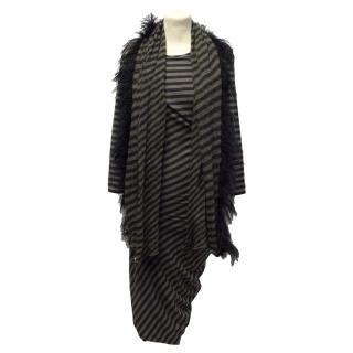 Sportmax striped dress with scarf