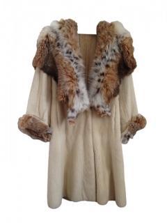 Vinicio Pajaro mink and lynx coat