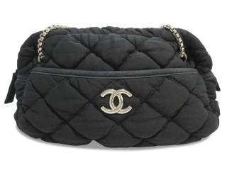 31f6ba8f12 Chanel Black Canvas Chain Shoulder Bag