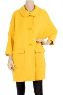See by Chloe yellow oversized wool coat