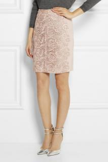 Lover 'Courtney' guipure lace and crepe skirt
