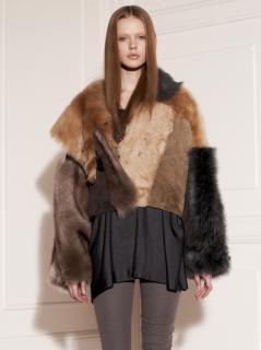 ACNE Patchwork Lamb Fur Jacket
