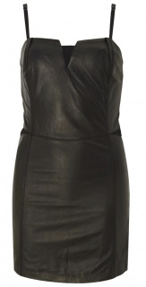 Diesel Black Leather Dress.