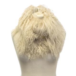 Marella lamb wool collar