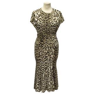 Blumarine leopard print dress