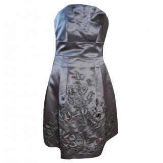 BCBG Max Azria Satin Silk Cocktail Dress
