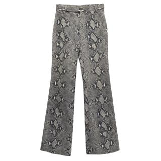 Gucci grey snakeprint trousers