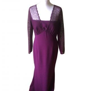 Escada amethyst size 40/m evening gown