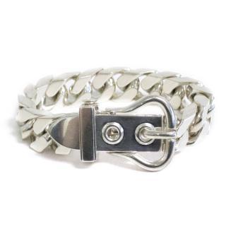 Hermes Sellier Silver Bracelet