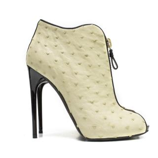 Tom Ford ostrich skin ankle boots
