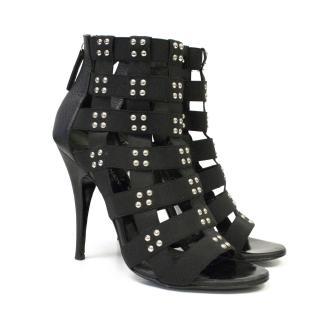Giuseppe Zanotti for Balmain black leather sandal