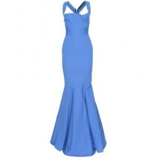 Roland Mouret Blue Structured Mermaid dress