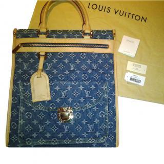 bbf02147b3e Louis Vuitton denim tote