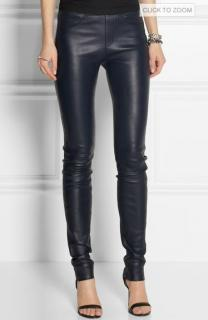 Helmut Lang Black Stretch Leather Leggings