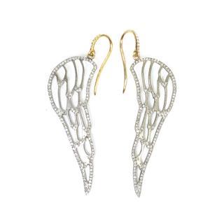 Ileana Makri diamond angel wing earrings