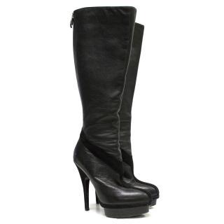 Yves Saint Laurent long black boots
