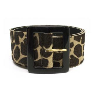 MaxMara Leopard belt
