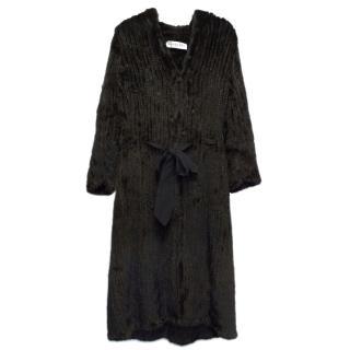 Christian Dior Black Fur Coat