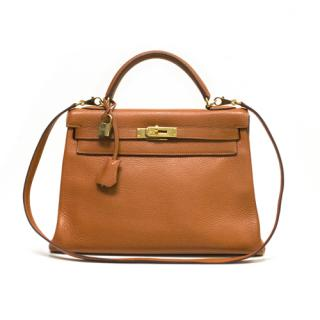 Hermes 32cm orange Kelly