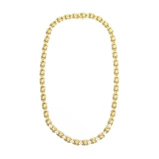 Tiffany & Co gold and diamond Hugs and Kisses necklace