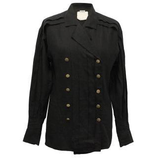 Chanel linen jacket/blouse
