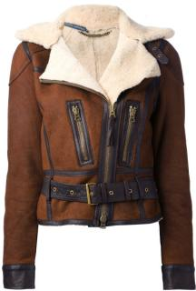 Ralph Lauren Blue Label sherling biker jacket