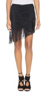 Haute Hippie Black Fringe Skirt