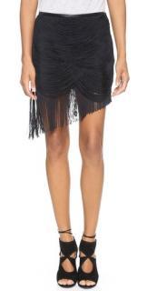 Haute Hippie Black Fringe Skirt