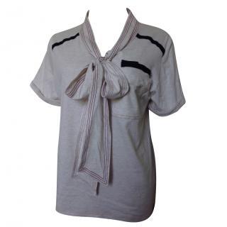 Luella beige cotton top